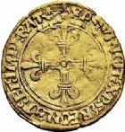 Photo numismatique  ARCHIVES VENTE 2015 -26-28 oct -Coll Jean Teitgen ROYALES FRANCAISES LOUIS XII (8 avril 1498-31 décembre 1514)  127- 1/2 écu d'or au soleil (25 avril 1498), Bordeaux.