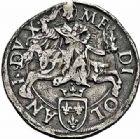 Photo numismatique  ARCHIVES VENTE 2015 -26-28 oct -Coll Jean Teitgen ROYALES FRANCAISES LOUIS XII (8 avril 1498-31 décembre 1514) Monnaies frappées en Italie, (1499-1512) 133- Teston d'argent, Milan.