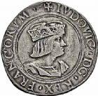 Photo numismatique  ARCHIVES VENTE 2015 -26-28 oct -Coll Jean Teitgen ROYALES FRANCAISES LOUIS XII (8 avril 1498-31 décembre 1514) Monnaies frappées en Italie, (1499-1512) 134- Gros royal de 12 à 15 sous, Milan.