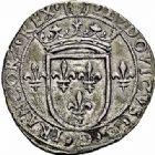 Photo numismatique  ARCHIVES VENTE 2015 -26-28 oct -Coll Jean Teitgen ROYALES FRANCAISES LOUIS XII (8 avril 1498-31 décembre 1514) Monnaies frappées en Italie, (1499-1512) 135- Gros royal de six sous, Milan.
