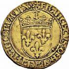 Photo numismatique  ARCHIVES VENTE 2015 -26-28 oct -Coll Jean Teitgen ROYALES FRANCAISES FRANCOIS I (1er janvier 1515–31 mars 1547)  138- Écu d'or au soleil, 2ème type, 1ère émission (23 janvier 1515), Lyon.