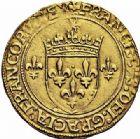 Photo numismatique  ARCHIVES VENTE 2015 -26-28 oct -Coll Jean Teitgen ROYALES FRANCAISES FRANCOIS I (1er janvier 1515–31 mars 1547)  139- Écu d'or au soleil, 4ème type, 2ème émission (18 mai 1519), Paris.