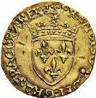 Photo numismatique  ARCHIVES VENTE 2015 -26-28 oct -Coll Jean Teitgen ROYALES FRANCAISES FRANCOIS I (1er janvier 1515–31 mars 1547)  140- Écu d'or au soleil, 5ème type, 3ème émission (21 juillet 1519), Limoges.