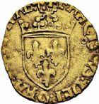 Photo numismatique  ARCHIVES VENTE 2015 -26-28 oct -Coll Jean Teitgen ROYALES FRANCAISES FRANCOIS I (1er janvier 1515–31 mars 1547)  141- 1/2 écu d'or au soleil, 5ème type, 3ème émission (21 juillet 1519), Toulouse (1523-1529).