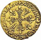 Photo numismatique  ARCHIVES VENTE 2015 -26-28 oct -Coll Jean Teitgen ROYALES FRANCAISES FRANCOIS I (1er janvier 1515–31 mars 1547)  142- Écu d'or au soleil, 9ème type, Gênes (1527-1528).