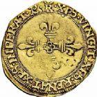 Photo numismatique  ARCHIVES VENTE 2015 -26-28 oct -Coll Jean Teitgen ROYALES FRANCAISES FRANCOIS I (1er janvier 1515–31 mars 1547)  143- Écu d'or au soleil du Dauphiné, 1er type, 1ère à 3ème émission, Romans (jusqu'en 1528).