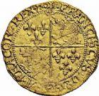 Photo numismatique  ARCHIVES VENTE 2015 -26-28 oct -Coll Jean Teitgen ROYALES FRANCAISES FRANCOIS I (1er janvier 1515–31 mars 1547)  144- Écu d'or au soleil du Dauphiné, 7ème type, 3ème émission (après 1528), Romans.