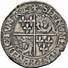Photo numismatique  ARCHIVES VENTE 2015 -26-28 oct -Coll Jean Teitgen ROYALES FRANCAISES FRANCOIS I (1er janvier 1515–31 mars 1547)  146- Teston du Dauphiné, 2ème type, Romans (1526-1529).