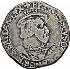 Photo numismatique  ARCHIVES VENTE 2015 -26-28 oct -Coll Jean Teitgen ROYALES FRANCAISES FRANCOIS I (1er janvier 1515–31 mars 1547)  147- Teston de Bretagne, 4ème type, Rennes.
