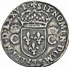 Photo numismatique  ARCHIVES VENTE 2015 -26-28 oct -Coll Jean Teitgen ROYALES FRANCAISES HENRI III (30 mai 1574–2 août 1589) Monnayage au nom de Charles IX 200- Teston du 8ème type, Toulouse, 1575.