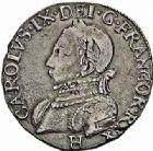 Photo numismatique  ARCHIVES VENTE 2015 -26-28 oct -Coll Jean Teitgen ROYALES FRANCAISES HENRI III (30 mai 1574–2 août 1589) Monnayage au nom de Charles IX 201- Teston du 9ème type, La Rochelle 1575.