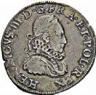Photo numismatique  ARCHIVES VENTE 2015 -26-28 oct -Coll Jean Teitgen ROYALES FRANCAISES HENRI III (30 mai 1574–2 août 1589) Monnayage au nom d'Henri III 203- Teston au col fraisé, Poitiers 1576.