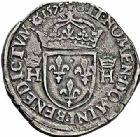 Photo numismatique  ARCHIVES VENTE 2015 -26-28 oct -Coll Jean Teitgen ROYALES FRANCAISES HENRI III (30 mai 1574–2 août 1589) Monnayage au nom d'Henri III 204- Teston au col plat, Rouen 1575.