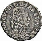 Photo numismatique  ARCHIVES VENTE 2015 -26-28 oct -Coll Jean Teitgen ROYALES FRANCAISES HENRI III (30 mai 1574–2 août 1589) Monnayage au nom d'Henri III 205- 1/2 teston au col fraisé, Bayonne 1576.