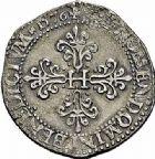 Photo numismatique  ARCHIVES VENTE 2015 -26-28 oct -Coll Jean Teitgen ROYALES FRANCAISES HENRI III (30 mai 1574–2 août 1589) Monnayage au nom d'Henri III 206- Franc d'argent au col plat, Paris 1576.