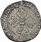 Photo numismatique  ARCHIVES VENTE 2015 -26-28 oct -Coll Jean Teitgen ROYALES FRANCAISES HENRI III (30 mai 1574–2 août 1589) Monnayage au nom d'Henri III 207- Franc d'argent, Bordeaux 1582.