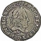 Photo numismatique  ARCHIVES VENTE 2015 -26-28 oct -Coll Jean Teitgen ROYALES FRANCAISES HENRI III (30 mai 1574–2 août 1589) Monnayage au nom d'Henri III 208- Franc d'argent à la fraise, Toulouse 1581.