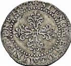 Photo numismatique  ARCHIVES VENTE 2015 -26-28 oct -Coll Jean Teitgen ROYALES FRANCAISES HENRI III (30 mai 1574–2 août 1589) Monnayage au nom d'Henri III 209- 1/2 franc au col plat, Poitiers, 1587.