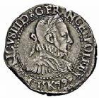 Photo numismatique  ARCHIVES VENTE 2015 -26-28 oct -Coll Jean Teitgen ROYALES FRANCAISES HENRI III (30 mai 1574–2 août 1589) Monnayage au nom d'Henri III 210- 1/2 franc à la fraise, Bordeaux 1579.