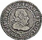 Photo numismatique  ARCHIVES VENTE 2015 -26-28 oct -Coll Jean Teitgen ROYALES FRANCAISES HENRI III (30 mai 1574–2 août 1589) Monnayage au nom d'Henri III 212- 1/4 de franc à la fraise, Saint-Lô 1578.