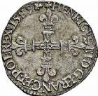Photo numismatique  ARCHIVES VENTE 2015 -26-28 oct -Coll Jean Teitgen ROYALES FRANCAISES HENRI III (30 mai 1574–2 août 1589) Monnayage au nom d'Henri III 213- Lot de 2 monnaies.