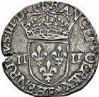Photo numismatique  ARCHIVES VENTE 2015 -26-28 oct -Coll Jean Teitgen ROYALES FRANCAISES HENRI III (30 mai 1574–2 août 1589) Monnayage au nom d'Henri III 214- Lot de 2 monnaies.