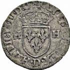 Photo numismatique  ARCHIVES VENTE 2015 -26-28 oct -Coll Jean Teitgen ROYALES FRANCAISES HENRI III (30 mai 1574–2 août 1589) Monnayage au nom d'Henri III 217- Lot de 4 monnaies.