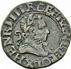 Photo numismatique  ARCHIVES VENTE 2015 -26-28 oct -Coll Jean Teitgen ROYALES FRANCAISES HENRI III (30 mai 1574–2 août 1589) Monnayage au nom d'Henri III 219- Lot de 4 monnaies.
