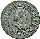 Photo numismatique  ARCHIVES VENTE 2015 -26-28 oct -Coll Jean Teitgen ROYALES FRANCAISES HENRI III (30 mai 1574–2 août 1589) Monnayage au nom d'Henri III 220- Denier tournois, Paris 1578.