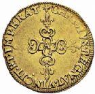 Photo numismatique  ARCHIVES VENTE 2015 -26-28 oct -Coll Jean Teitgen ROYALES FRANCAISES HENRI IV (2 août 1589-14 mai 1610)  231-  Écu d'or au soleil, Paris 1606.