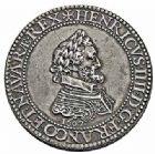 Photo numismatique  ARCHIVES VENTE 2015 -26-28 oct -Coll Jean Teitgen ROYALES FRANCAISES HENRI IV (2 août 1589-14 mai 1610)  232- Piéfort en argent du franc (poids quadruple), Paris, Moulin du Louvre 1607.
