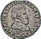 Photo numismatique  ARCHIVES VENTE 2015 -26-28 oct -Coll Jean Teitgen ROYALES FRANCAISES HENRI IV (2 août 1589-14 mai 1610)  233- 1/2 franc, Angers 1596.