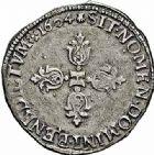 Photo numismatique  ARCHIVES VENTE 2015 -26-28 oct -Coll Jean Teitgen ROYALES FRANCAISES HENRI IV (2 août 1589-14 mai 1610)  234- 1/2 franc, Toulouse 1604.