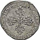Photo numismatique  ARCHIVES VENTE 2015 -26-28 oct -Coll Jean Teitgen ROYALES FRANCAISES HENRI IV (2 août 1589-14 mai 1610)  236- 1/2 franc au lis, Villeneuve 1602.