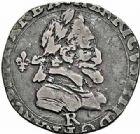 Photo numismatique  ARCHIVES VENTE 2015 -26-28 oct -Coll Jean Teitgen ROYALES FRANCAISES HENRI IV (2 août 1589-14 mai 1610)  237- 1/4 de francau lis, Villeneuve 1602.