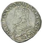Photo numismatique  MONNAIES MONNAIES DU MONDE PAYS-BAS HOLLANDE, Philippe II (1555-1598) Cinquième d'écu Philippe.