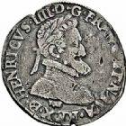 Photo numismatique  ARCHIVES VENTE 2015 -26-28 oct -Coll Jean Teitgen ROYALES FRANCAISES HENRI IV (2 août 1589-14 mai 1610)  238- 1/2 franc de Béarn, 1er type, Morlaàs 1595.