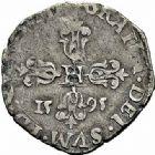 Photo numismatique  ARCHIVES VENTE 2015 -26-28 oct -Coll Jean Teitgen ROYALES FRANCAISES HENRI IV (2 août 1589-14 mai 1610)  239- 1/4 de franc de Béarn, 1er type, Morlaàs 1595.
