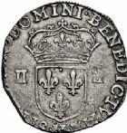 Photo numismatique  ARCHIVES VENTE 2015 -26-28 oct -Coll Jean Teitgen ROYALES FRANCAISES HENRI IV (2 août 1589-14 mai 1610)  240- 1/4 d'écus, 1er type, La Rochelle 1606 et 2ème type, Bayonne 1605.