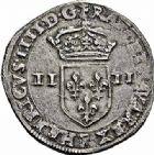 Photo numismatique  ARCHIVES VENTE 2015 -26-28 oct -Coll Jean Teitgen ROYALES FRANCAISES HENRI IV (2 août 1589-14 mai 1610)  242- 1/4 d'écu, 4ème type, Villeneuve 1603.
