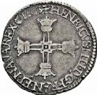 Photo numismatique  ARCHIVES VENTE 2015 -26-28 oct -Coll Jean Teitgen ROYALES FRANCAISES HENRI IV (2 août 1589-14 mai 1610)  243- 1/4 d'écu et 1/8ème d'écu, 5ème type, Saint-Lô 1603 et 160(5 sur 3).
