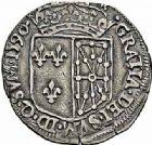 Photo numismatique  ARCHIVES VENTE 2015 -26-28 oct -Coll Jean Teitgen ROYALES FRANCAISES HENRI IV (2 août 1589-14 mai 1610)  246- 1/4 d'écu de Navarre, Saint-Palais 1590.