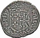 Photo numismatique  ARCHIVES VENTE 2015 -26-28 oct -Coll Jean Teitgen ROYALES FRANCAISES HENRI IV (2 août 1589-14 mai 1610)  248- 1/8ème d'écu de Navarre, Saint-Palais 1591.