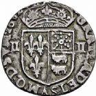 Photo numismatique  ARCHIVES VENTE 2015 -26-28 oct -Coll Jean Teitgen ROYALES FRANCAISES HENRI IV (2 août 1589-14 mai 1610)  249- 1/4 d'écu de Béarn, Morlaàs 1602.