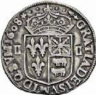 Photo numismatique  ARCHIVES VENTE 2015 -26-28 oct -Coll Jean Teitgen ROYALES FRANCAISES HENRI IV (2 août 1589-14 mai 1610)  250- 1/4 d'écu de Béarn, Pau 1608 - 1/8ème d'écu de Béarn, Pau 1590.
