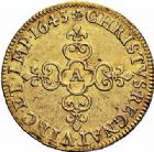 Photo numismatique  ARCHIVES VENTE 2015 -26-28 oct -Coll Jean Teitgen ROYALES FRANCAISES LOUIS XIII (16 mai 1610-14 mai 1643)  259- Écu d'or au soleil, Moulin de Paris 1643.