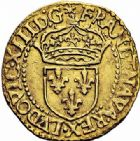 Photo numismatique  ARCHIVES VENTE 2015 -26-28 oct -Coll Jean Teitgen ROYALES FRANCAISES LOUIS XIII (16 mai 1610-14 mai 1643)  260- 1/2 écu d'or au soleil, Rouen 1615.