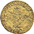 Photo numismatique  ARCHIVES VENTE 2015 -26-28 oct -Coll Jean Teitgen ROYALES FRANCAISES LOUIS XIII (16 mai 1610-14 mai 1643)  261- 1/2 écu d'or au soleil, Amiens 1635.
