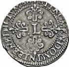 Photo numismatique  ARCHIVES VENTE 2015 -26-28 oct -Coll Jean Teitgen ROYALES FRANCAISES LOUIS XIII (16 mai 1610-14 mai 1643)  266- 1/2 franc du 3ème type, Rouen 1615.
