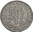 Photo numismatique  ARCHIVES VENTE 2015 -26-28 oct -Coll Jean Teitgen ROYALES FRANCAISES LOUIS XIII (16 mai 1610-14 mai 1643)  277- Écu de 60 sols à la Monnaie assise, 2ème type de Warin, Paris 1641.